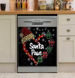 Santa Paws Dishwasher Cover Sticker Kitchen Decor