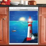 Moonlight Lighthouse Dishwasher Cover Sticker Kitchen Decor