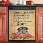 Schnauzer Heart Is Bigger Than Anything You Can Ever Own Dishwasher Cover Sticker Kitchen Decor