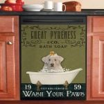 Olive Bath Soap Company Great Pyrenees Dishwasher Cover Sticker Kitchen Decor