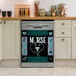 Nurse Its A Work Of Heart Teal Blue Dishwasher Cover Sticker Kitchen Decor