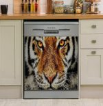 Lion Face Animal Art Dishwasher Cover Sticker Kitchen Decor