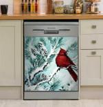 Northern Cardinal Dishwasher Cover Sticker Kitchen Decor