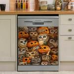 Parliament Of Owls And Pumpkins Dishwasher Cover Sticker Kitchen Decor