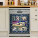 Lovely Airedale Terrier Animals Dishwasher Cover Sticker Kitchen Decor