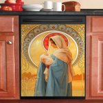 Mary Mother And Christ Dishwasher Cover Sticker Kitchen Decor