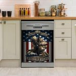 Patriotic Usa Flag Military Soldier Firefighter Police Honoring Our Heroes Dishwasher Cover Sticker Kitchen Decor