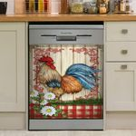 Rooster Strong And Colorful Dishwasher Cover Sticker Kitchen Decor