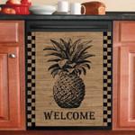 Pineapple Welcome Pattern Dishwasher Cover Sticker Kitchen Decor