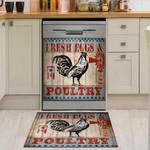 Poultry Fresh Eggs Pattern Dishwasher Cover Sticker Kitchen Decor