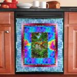 Parrot Forest Pattern Dishwasher Cover Sticker Kitchen Decor