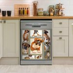 Multiple Photos Into Boxer Dog Dishwasher Cover Sticker Kitchen Decor