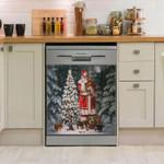 Santa Clause Careful Santa Dishwasher Cover Sticker Kitchen Decor