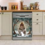 Monkey And Circle Tree Dishwasher Cover Sticker Kitchen Decor