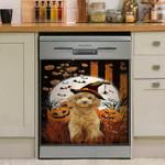 Poodle Happy Halloween Dishwasher Cover Sticker Kitchen Decor