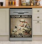 Nursing Scouting Girl In Their Soul Dishwasher Cover Sticker Kitchen Decor