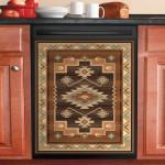 Native American Pattern Dishwasher Cover Sticker Kitchen Decor