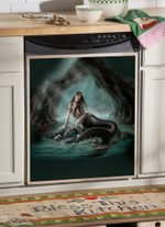 Mermaid And Skull Dishwasher Cover Sticker Kitchen Decor