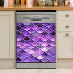 Mermaid Violet Fin Dishwasher Cover Sticker Kitchen Decor