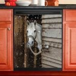 Love Horse Winter Day Dishwasher Cover Sticker Kitchen Decor