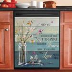 Love Never Die Hummingbird Flying Dishwasher Cover Sticker Kitchen Decor