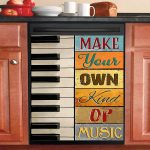 Make Your Own Kind Of Music Piano Dishwasher Cover Sticker Kitchen Decor