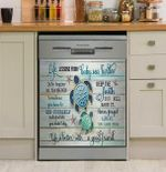 Life Lessons From Baby Sea Turtles Dishwasher Cover Sticker Kitchen Decor