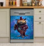 Professor Owl Dishwasher Cover Sticker Kitchen Decor