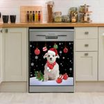 Maltese Christmas Dishwasher Cover Sticker Kitchen Decor