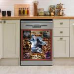 Native American Wolf Dishwasher Cover Sticker Kitchen Decor