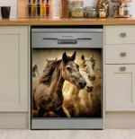 Running Horse Herd Dishwasher Cover Sticker Kitchen Decor