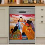 Native American Human Art Dishwasher Cover Sticker Kitchen Decor