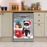 Miniature Schnauzer Christmas Boots Dishwasher Cover Sticker Kitchen Decor