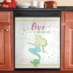 Live Mermaid Life To The Fullest Dishwasher Cover Sticker Kitchen Decor