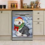 Old English Sheepdog Snow Alone Dishwasher Cover Sticker Kitchen Decor