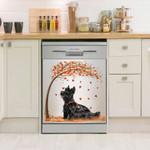 Scottish Terrier Fall Pattern Dishwasher Cover Sticker Kitchen Decor