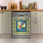 Rooster Art Dishwasher Cover Sticker Kitchen Decor