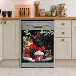 Scottish Terrier Christmas Dishwasher Cover Sticker Kitchen Decor
