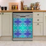 Sea Turtle Galaxy Pattern Dishwasher Cover Sticker Kitchen Decor