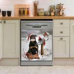 Rottweiler And Christmas Cards Dishwasher Cover Sticker Kitchen Decor