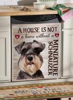 Miniature Schnauzer A House Is Not Dishwasher Cover Sticker Kitchen Decor