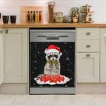 Raccoon Christmas Night Raccoon Dishwasher Cover Sticker Kitchen Decor