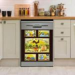 Rooster Sunshine Dishwasher Cover Sticker Kitchen Decor