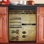 Photography Knowledge Dishwasher Cover Sticker Kitchen Decor