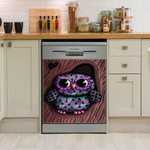 Owl Heart Bohemian Pattern Dishwasher Cover Sticker Kitchen Decor