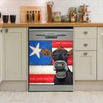 Red White And Moo Flag Dishwasher Cover Sticker Kitchen Decoration