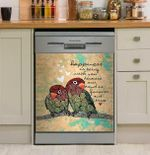 Parrot Gift Happiness Is Being With You Vintage Dishwasher Cover Sticker Kitchen Decor