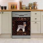 Miniature Schnauzer Vintage Dishwasher Cover Sticker Kitchen Decor