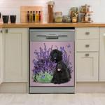 Newfie Happy Lavender Dishwasher Cover Sticker Kitchen Decor