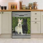 Scottish Terrier Art Dishwasher Cover Sticker Kitchen Decor
